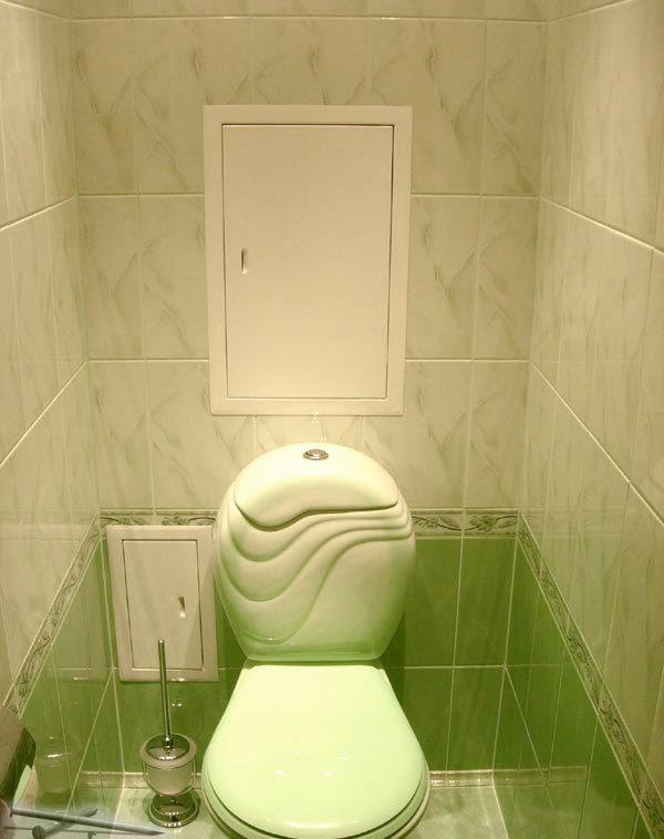 Плитка в интерьере небольшого туалета