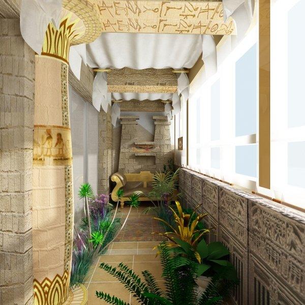 """Дизайн балкона в египетском стиле"""" - карточка пользователя p."""