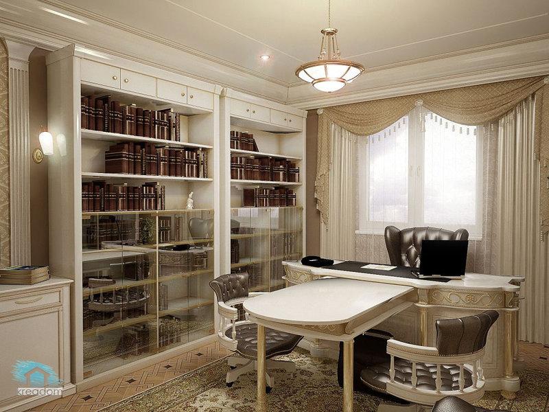 Дизайн  кабинет в квартире