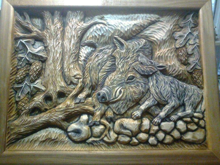 картинки для резьбы по дереву кабаны естественно, без участия