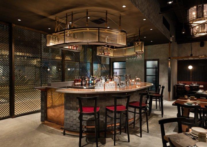 Европейский стиль в интерьере ресторана Rhoda, Гонконг, Китай