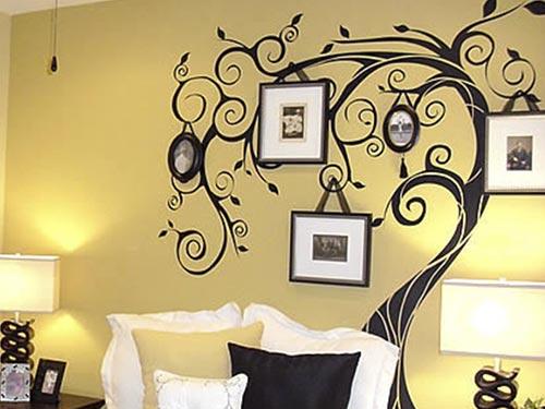 Орнамент на стене своими руками