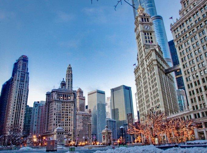 Зимний Чикаго