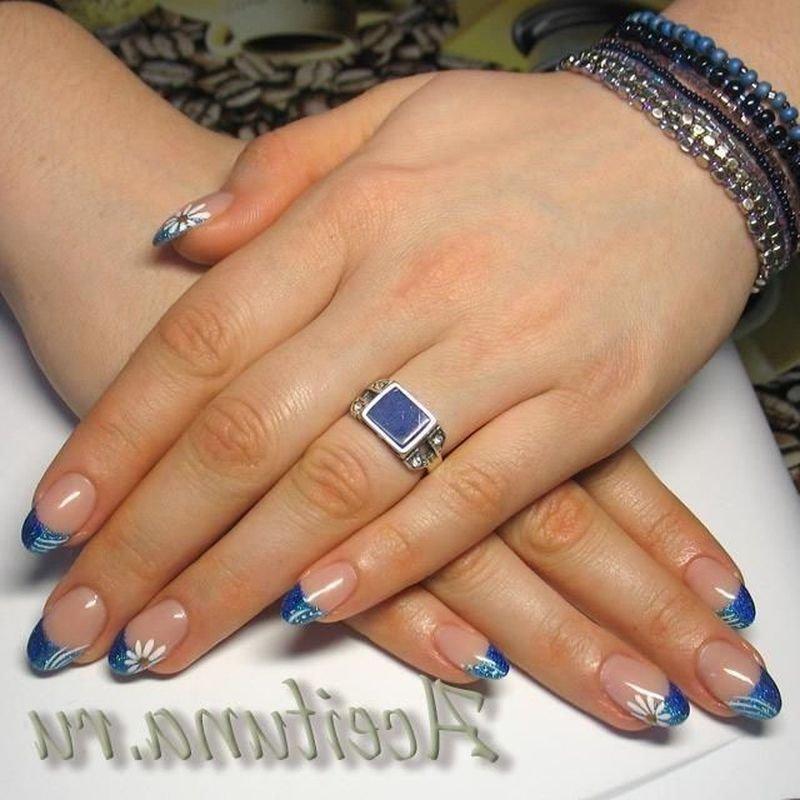 дизайн ногтей в синем