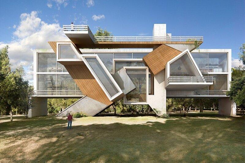 Фантастическая архитектура испанского художника. ФОТО