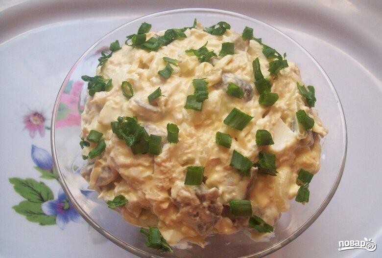 Посмотреть фото готовых салатов