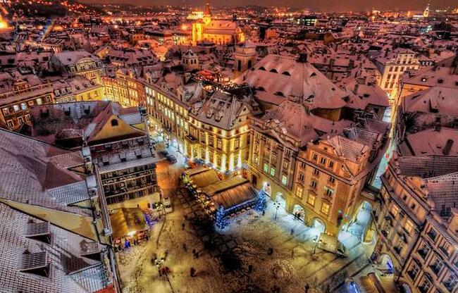 Новый год в Чехии обещает быть белым и пушистым.