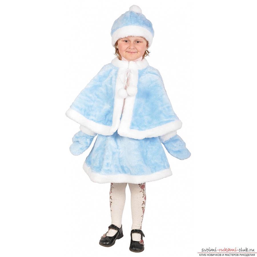 Детский новогодний костюм красной шапочки для девочки 67