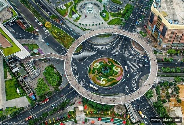 Круглый мост в Шанхае.
