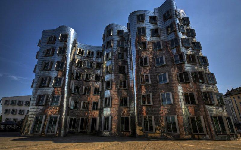 Германия, Дюссельдорф, архитектура, танцующий дом, новая таможня 178762