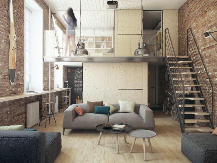 двухуровневая квартира. фото