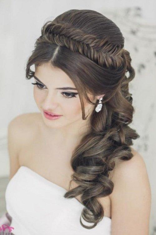 Свадебные причёски на длинные волосы картинки
