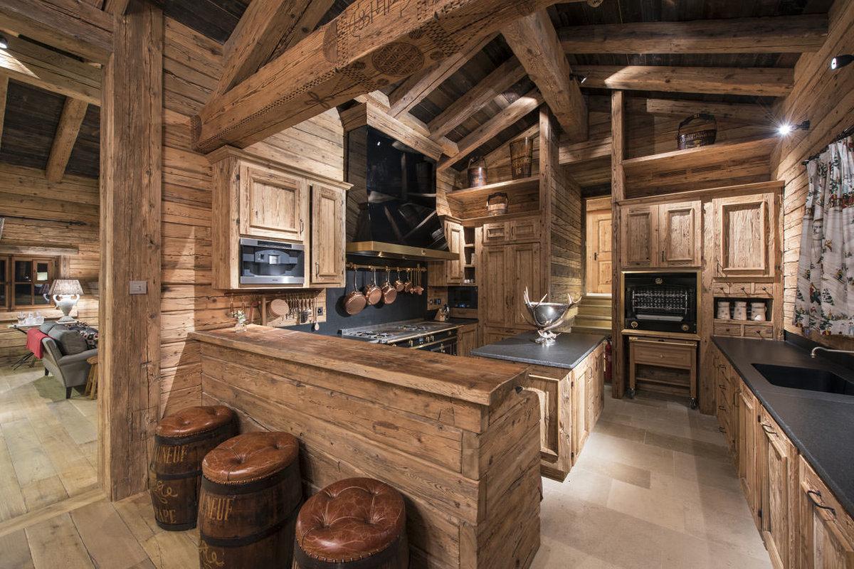 дизайн кухни в стиле шале фото полукультурок несколько