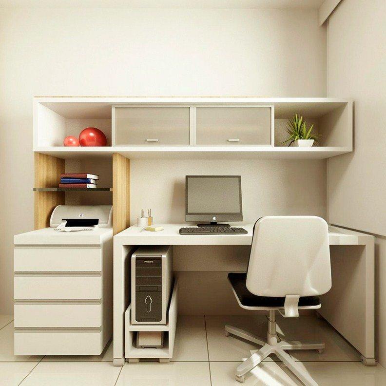 Белый маленький домашний кабинет