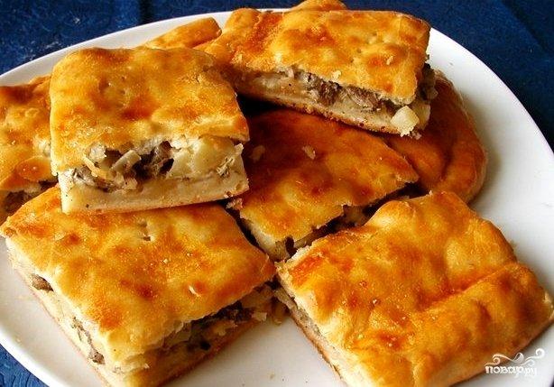 Ленина пирог с картофелем и сайрой лома