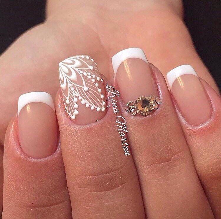фото френч рисунки на ногтях