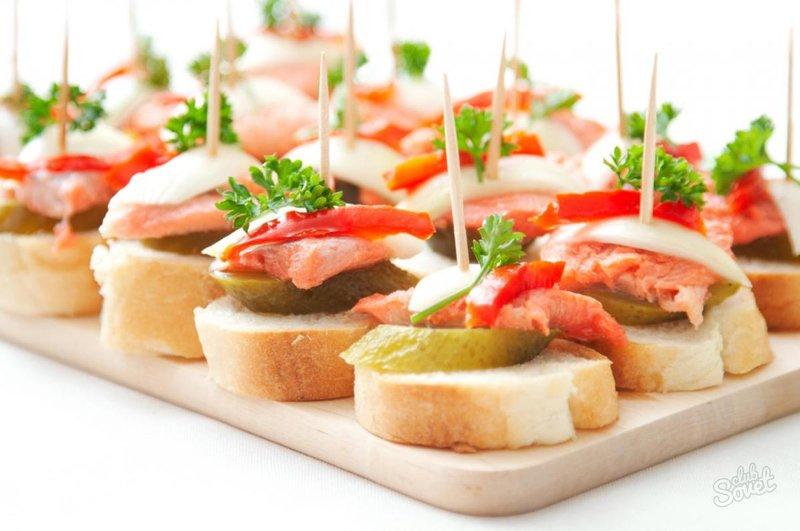 закуски и бутерброды с фотографиями