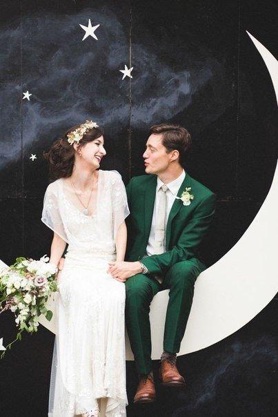 Фото свадьбы изумрудный цвет