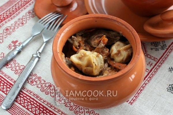 Рецепт приготовления пельменей в горшочках