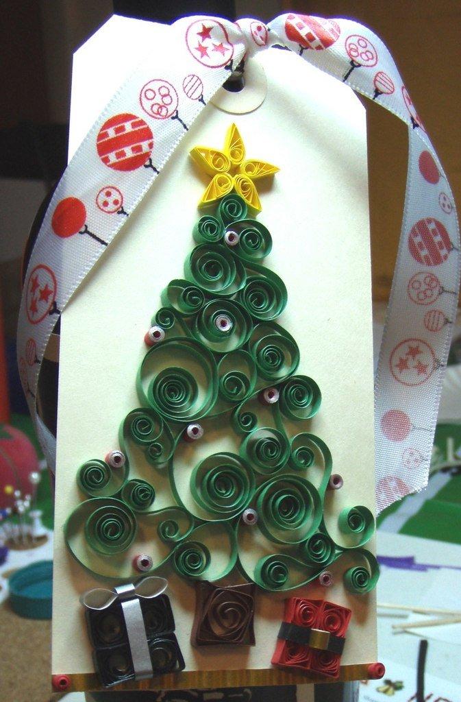 новогодняя елка открытка поделка техническим