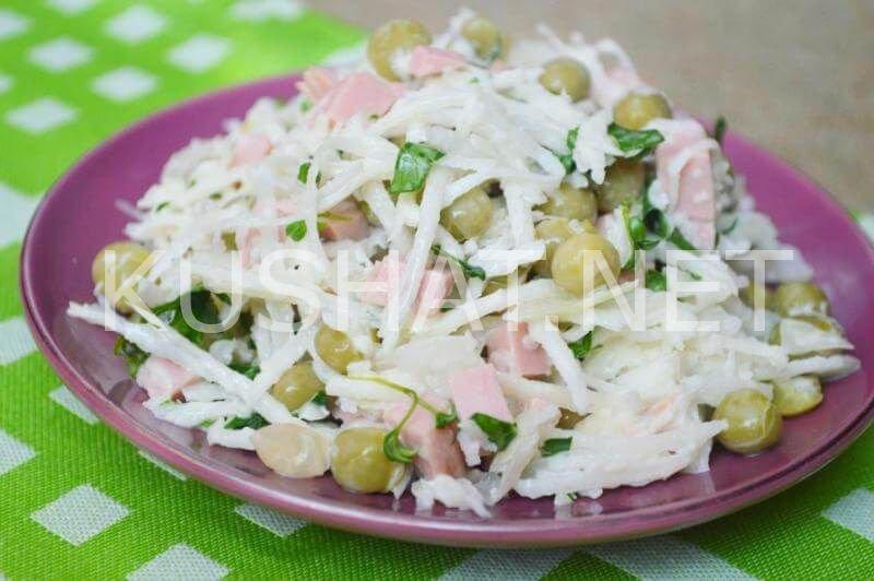 Салат с редькой рецепт с фото пошагово