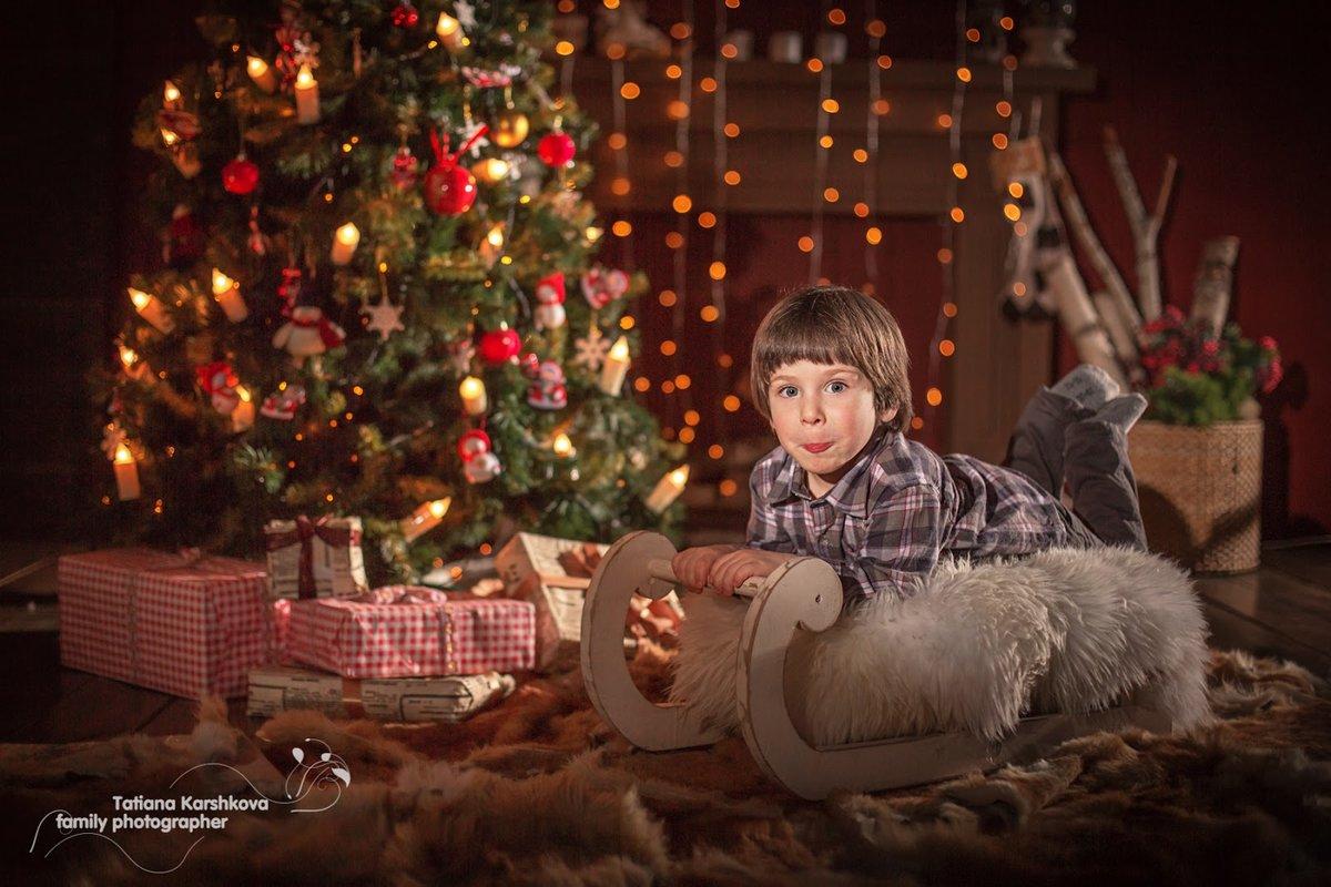 Освещение в новогодней фотосессии