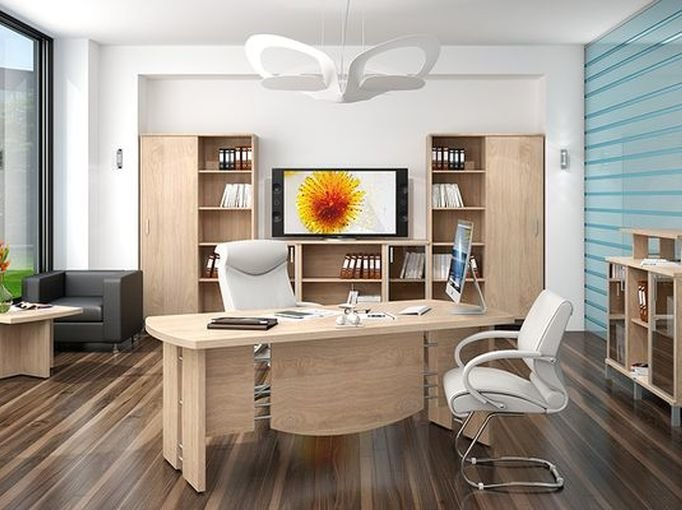 Кабинет с офисной мебелью