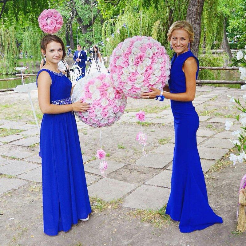 Платье подруги невесты синие