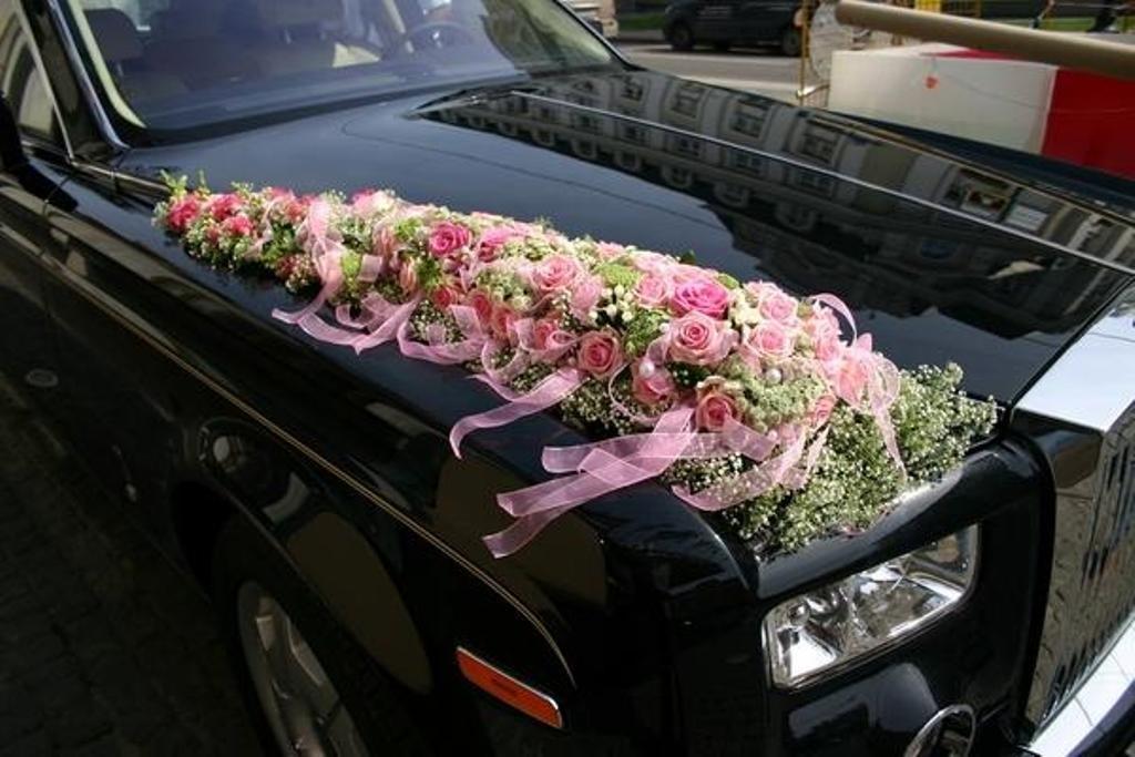 Свадебные букеты на авто, букет ткани