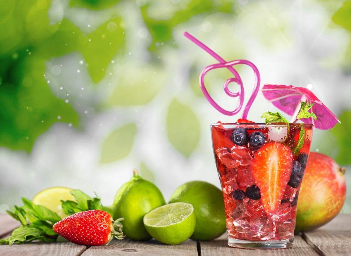 картинки с коктейлем и едой горным ручьем