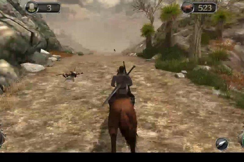 Игровое видео: Тайное Knight - верхом на лошади и боевые действия, играя на Android OS.