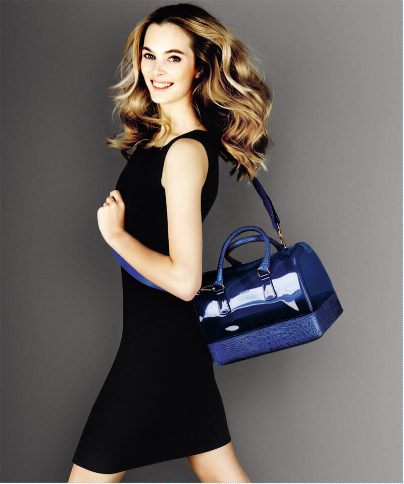 Женская сумка синяя. Новая коллекция FURLA 2013.
