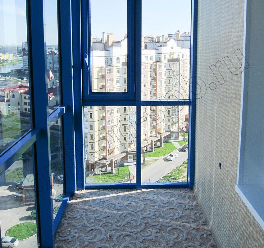 Стоимость панорамного остекления балкона.