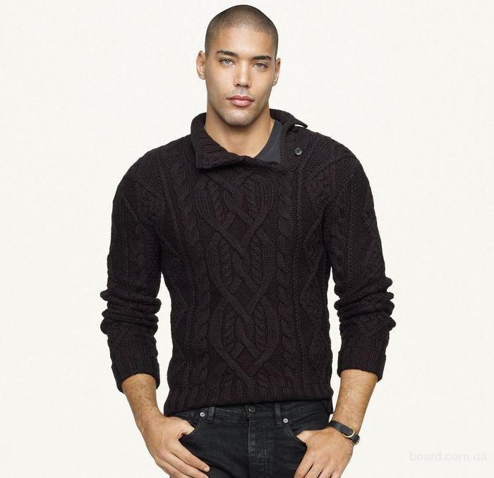 стильный мужской свитер спицами вопрос