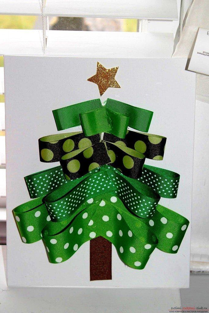 Как сделать елку из открыток