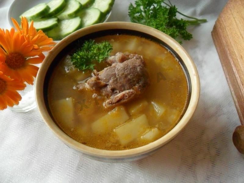 Суп на говяжьей косточке рецепт с фото