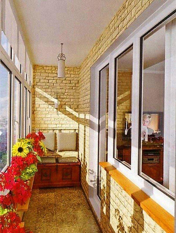 """Материалы для внутренней отделки лоджии и балкона"""" - карточк."""