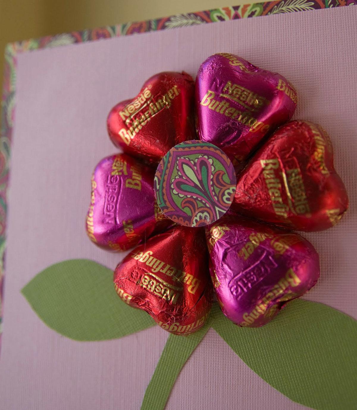 Открытки из конфет своими руками