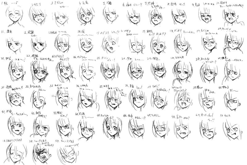Anime Face Expressions Images & Pictures - Becuo