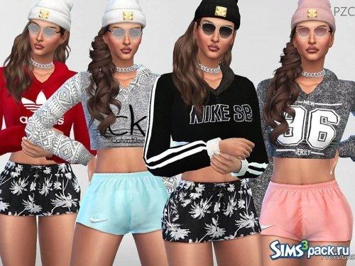 01983aa9665 ... Одежда для Симс 4 - скачать бесплатно одежду для Sims 4 Коллекция  свитшотов Chill