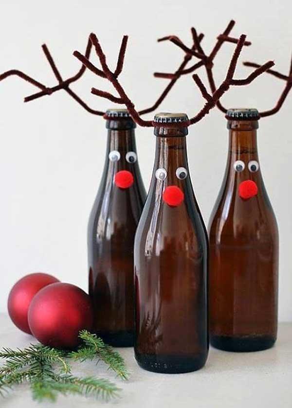 Украшение бутылок к Новому Году