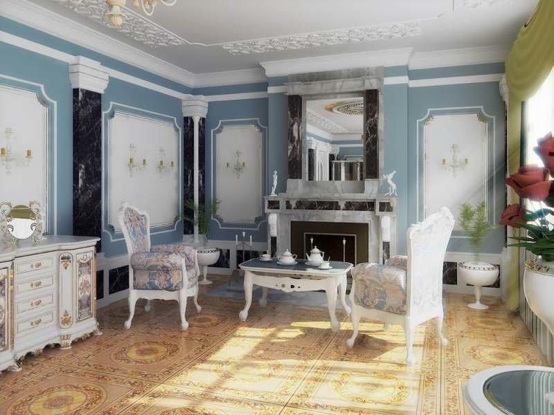 Гостиная в стиле рококо фото