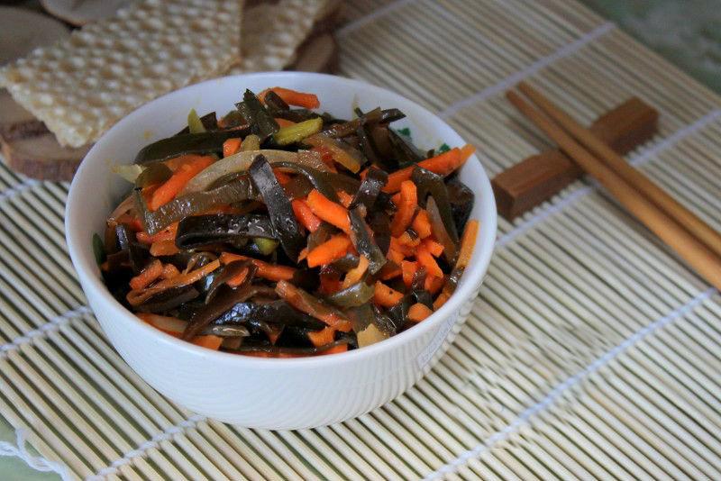 салат из морской капусты с морковкой по-корейски рецепт