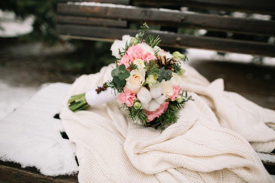 Букет для невесты зима, букет пермь
