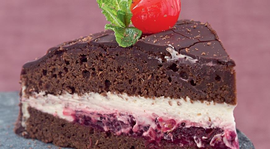 Торт шоколадный с вишней рецепт