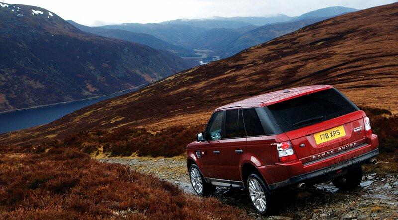 Land Rover после доща