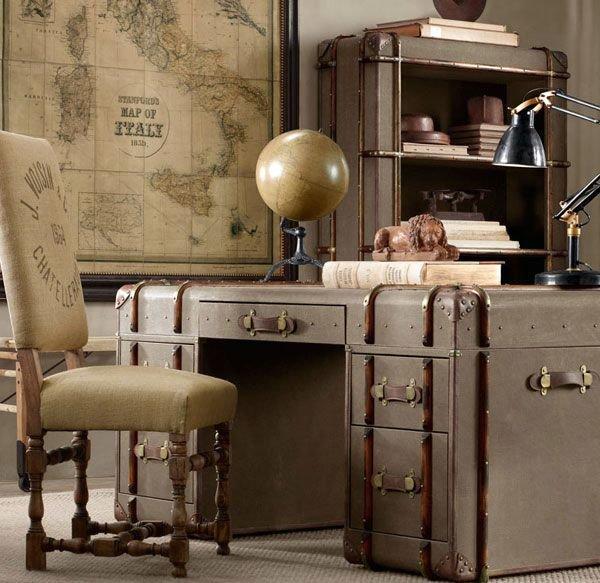 отличное решение применить чемодан чтоб изготовить себе стол письменный