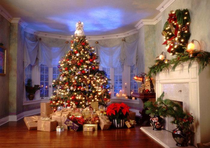 Превосходная елка в резиденции дедушки мороза