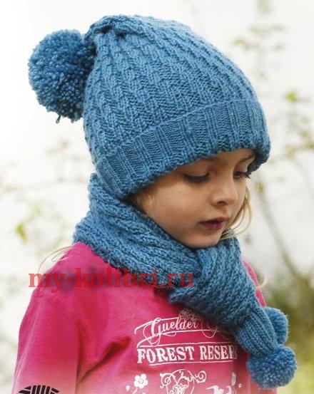 Вязание детских шапочек спицами