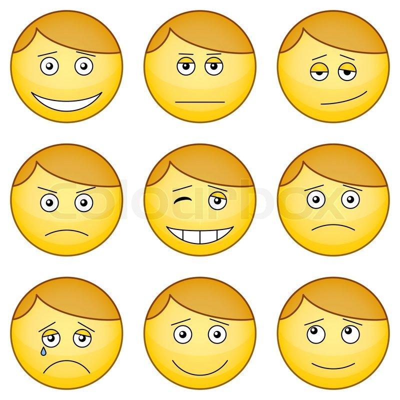 картинки смайлики с изображением эмоций человека